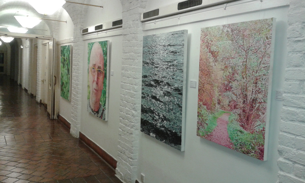 Harvey Taylor's paintings at the Crypt