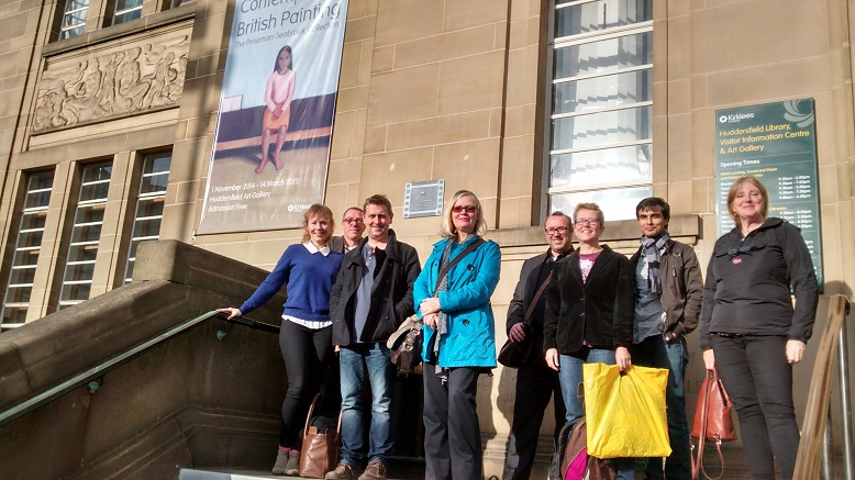 Some of the exhibiting artists at Huddersfield Art Gallery