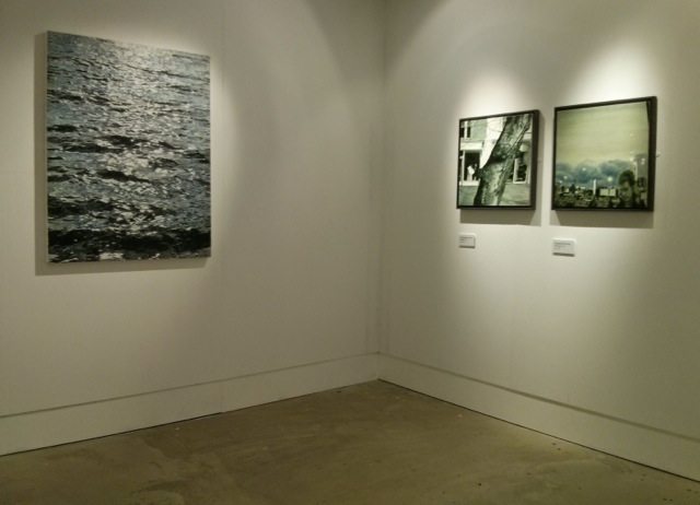 Installation shot of Sea II at Ipswich Art School