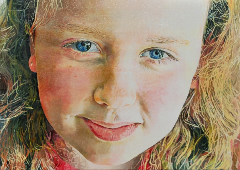 Painting of a portrait by Harvey Taylor - oil on canvas 81cm x 65cm