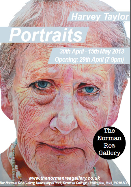 Poster for exhibition of Portraits in York - April / May 2013