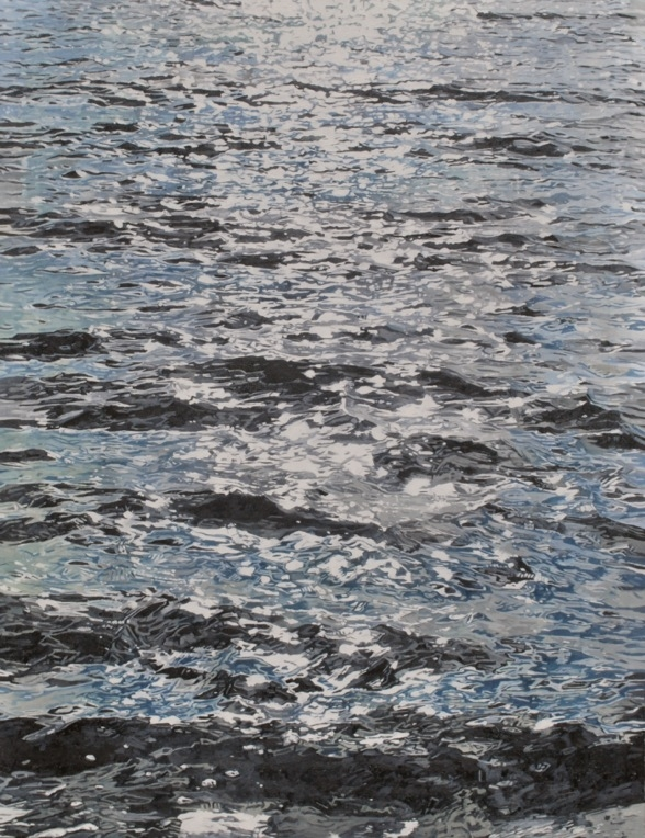 Painting by Harvey Taylor - The Sea at Mersea II - oil on canvas